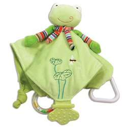 Personalized Freddy Frog Baby Chew Blanket