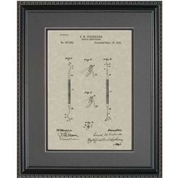 Dental Curette Framed Patent Art Print