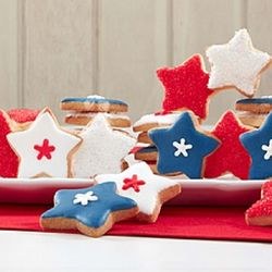 Patriotic Stars Decorated Cookies