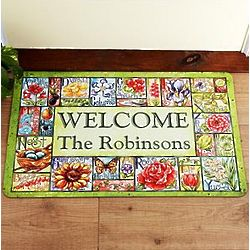 Personalized Country Garden Patch Doormat