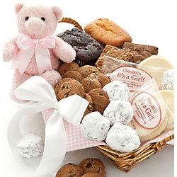 Welcome Baby Girl Baked Goods Gift Basket