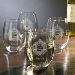 Oxford Personalized Stemless Wine Glasses
