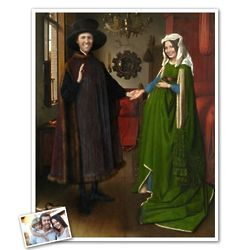 The Arnolfini Portrait Personalized Classic Painting Print