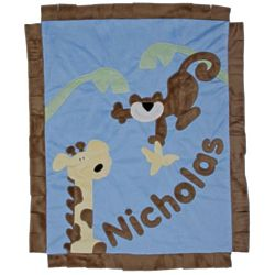 Personalized Monkey Business Baby Blanket