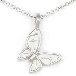 Beautiful Enchanted Butterfly Silver Necklace