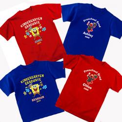 Personalized SpongeBob And Elmo Graduation T Shirt