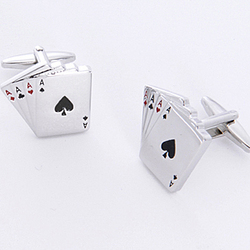 Aces Cufflinks with Personalized Case
