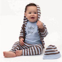 Chocolate Baby Boy Clothing Set