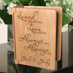 Personalized Love You Always Wooden Photo Album