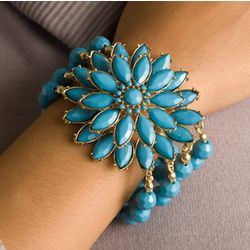 Jeweled Stretch Bangle Bracelet