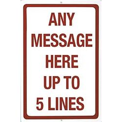 Personalized Any Message Sign