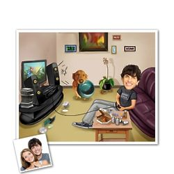 Game Over Caricature Print