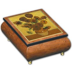 Sunflower Art Musical Jewelry Box