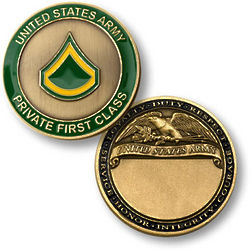 Army Keepsake Coins by Rank