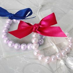 Ribbon Tie Pearl Bracelet for Bridesmaids