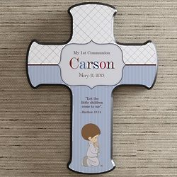 Personalized Precious Moments First Communion Wall Cross