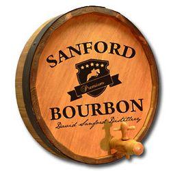 Personalized Bourbon Quarter Barrel Sign