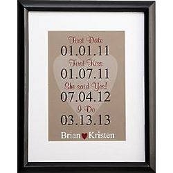 Personalized Milestone Wedding Framed Print