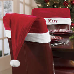 Personalized Santa Claus Velvet Chair Hat