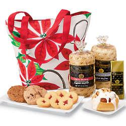 Breakfast Goodies Poinsettia Gift Basket