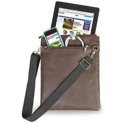 Tablet Brown Leather Travel Bag
