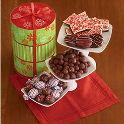 Peppermint Treats Gift Tower