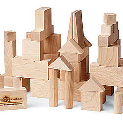 Wooden Handcrafted Building Blocks Junior Builder Set
