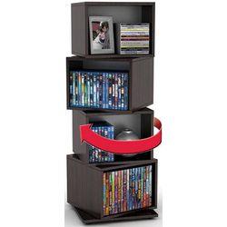 4-Cube Rotating Media Storage Shelf