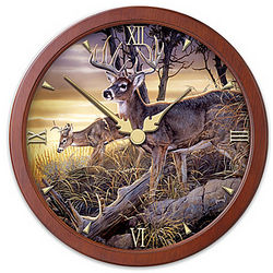Transitioning Stained Glass Chance Encounters Wall Clock