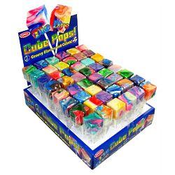 Tie Dye Cube Lollipops
