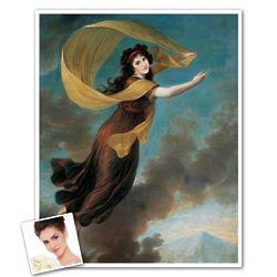 Classic Painting Princess Karoline Personalized Art Print