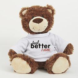 Personalized Feel Better Smiles Teddy Bear