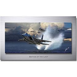 Bottom Of The Loop F-15 Eagle Fighter Jet Print