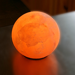 Globe Salt Crystal Lamp