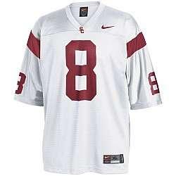 Nike USC Trojans #8 White Replica Football Jersey