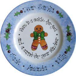 Dear Santa Gingerbread Plate
