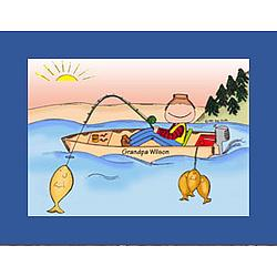 Personalized Fishing Cartoon