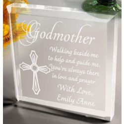 Personalized Godparents Plaque and Paperweight