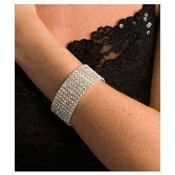 Rhinestone Stretch Cuff Bracelet
