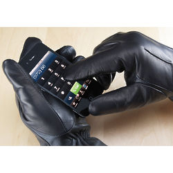 Women's Leather Touch Screen Gloves