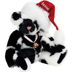 "15"" Christmas Cow Spotted Teddy Bear"