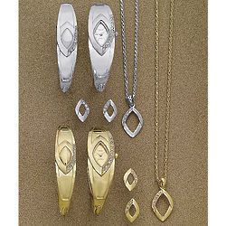 Crystal Watch and Jewelry Set