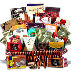 Coffee and Chocolates Deluxe Gift Basket