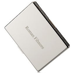 Engraved Pocket Business Card Holder with Dividers
