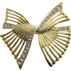 Golden Bow Brooch
