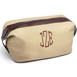Personalized Canvas Dopp Kit