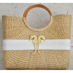 Seahorse Woven Basket Bag