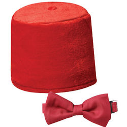 Dr. Who Fez and Bow Tie Set