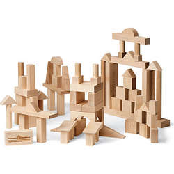 Wooden Handcrafted Building Blocks Advanced Builder Set