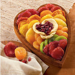 Dried Fruit Heart Gift Box